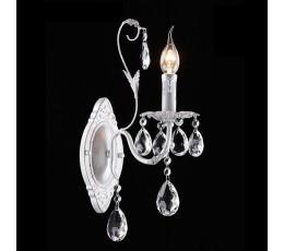 Бра 10050/1 белый с серебром/прозрачный хрусталь Strotskis Eurosvet