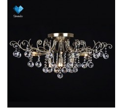 Люстра потолочная 10042/12 античная бронза/прозрачный хрусталь Eurosvet