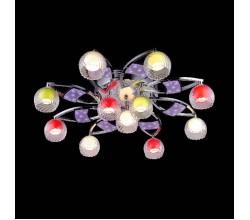 Люстра потолочная 0180/11 хром/синий+красный+фиолетовый Eurosvet