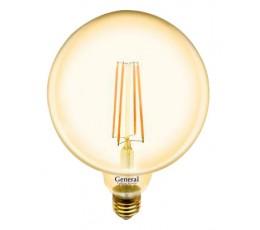 Лампочка 655309 G125S-8-E27-2700 Золото General