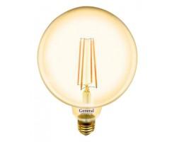 Лампочка 655310 G125S-10-E27-2700 Золото General