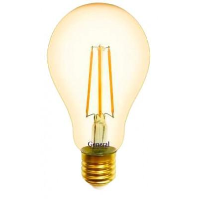 Лампочка 655317 A75S-10-E27-2700 Золото General